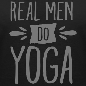 Real Men Do Yoga T-Shirts - Women's V-Neck T-Shirt