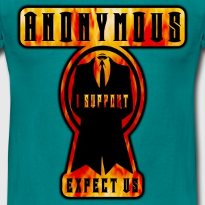 anonymous i support expect us Tee shirts - T-shirt Homme