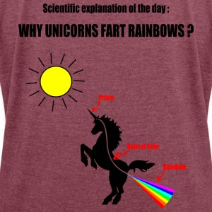 Unicorns and Rainbows T-Shirts - Women's T-shirt with rolled up sleeves