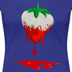 Erdbeerenfarbe läuft aus