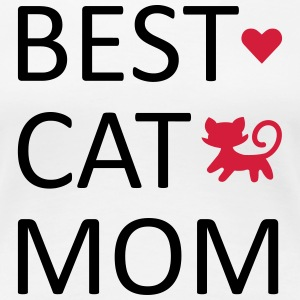 Best Cat Mom Camisetas - Camiseta premium mujer
