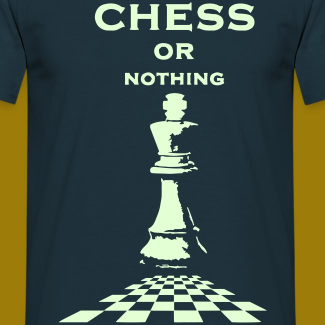 T-shirt classica Uomo Chess or Nothing King Fluo