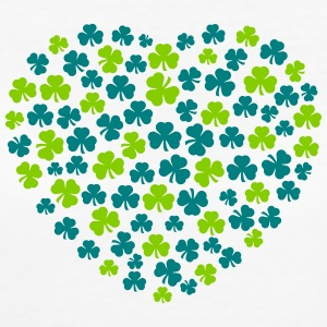 shamrocks heart T-Shirts - Women's Organic T-shirt