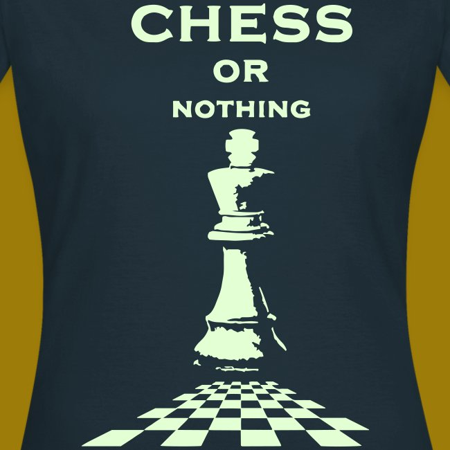 T-shirt classica Donna Chess or Nothing King Fluo