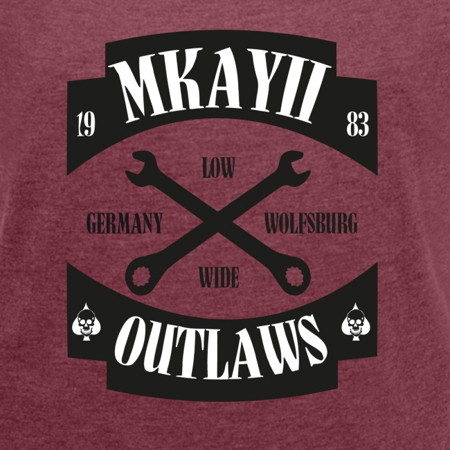 dIIb MkII Outlaws T-Shirt mit gerollten Ärmeln Woman