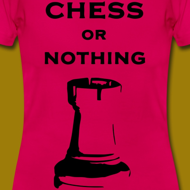 T-shirt classica Donna Chess Or Nothing Rook