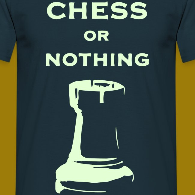 T-shirt classica Uomo Chess Or Nothing Rook Fluo