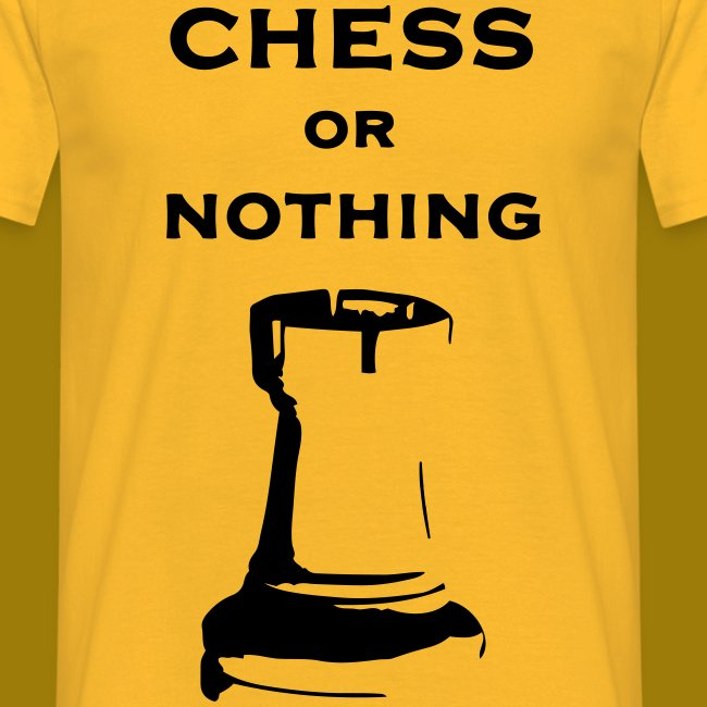 T-shirt classica Uomo Chess Or Nothing Rook