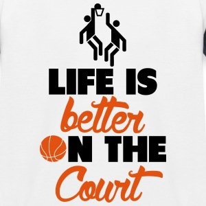 Life is better on the Court T-Shirts - Kinder Baseball T-Shirt