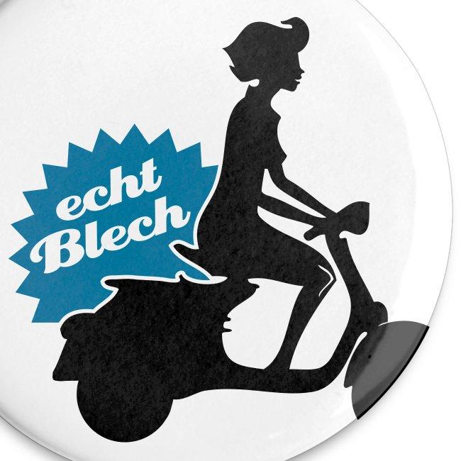 """""""Echt Blech"""" Buttons im 5-er Pack"""