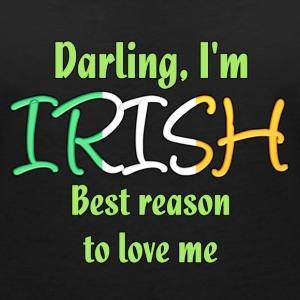 Irish - Reason to love me T-Shirts - Women's V-Neck T-Shirt