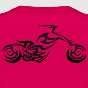 Tribal Tattoo Style Motorcycle Back Print T-Shirt - Women's T-Shirt