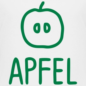 Apfel Hälfte mit Text T-Shirts - Teenager Premium T-Shirt
