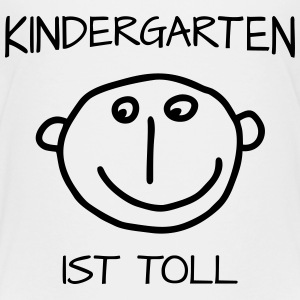 Gesicht - Kindergarten ist Toll  T-Shirts - Teenager Premium T-Shirt