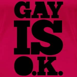 GAY IS OK - SCHWUL IS OK Magliette - Maglietta Premium da donna
