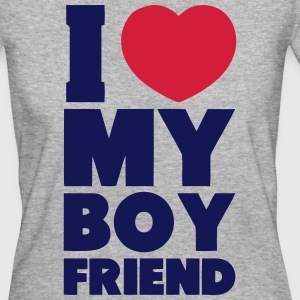 I LOVE MY BOYFRIEND - Frauen Bio-T-Shirt