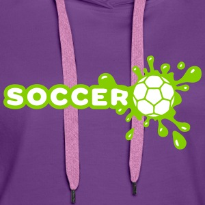 Soccer Splash Sweat-shirts - Sweat-shirt à capuche Premium pour femmes