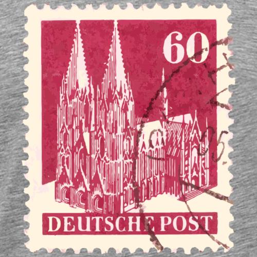 Kölner Dom Briefmarke 60er Rot 1948