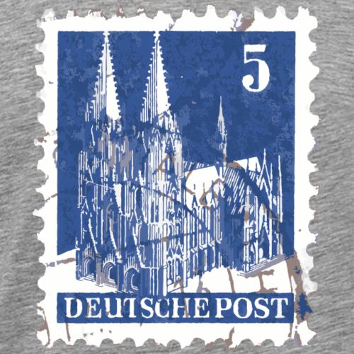 Kölner Dom Briefmarke 5er Blau 1948