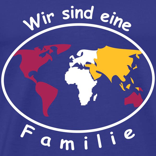 TIAN GREEN Shirt Men - Wir sind eine Familie