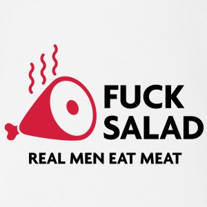 Fucking salad. Real men eat meat! Shirts - Organic Short-sleeved Baby Bodysuit