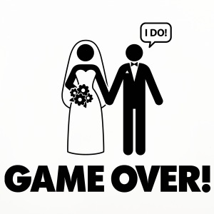Game over. I am married. Mugs & Drinkware - Coasters (set of 4)