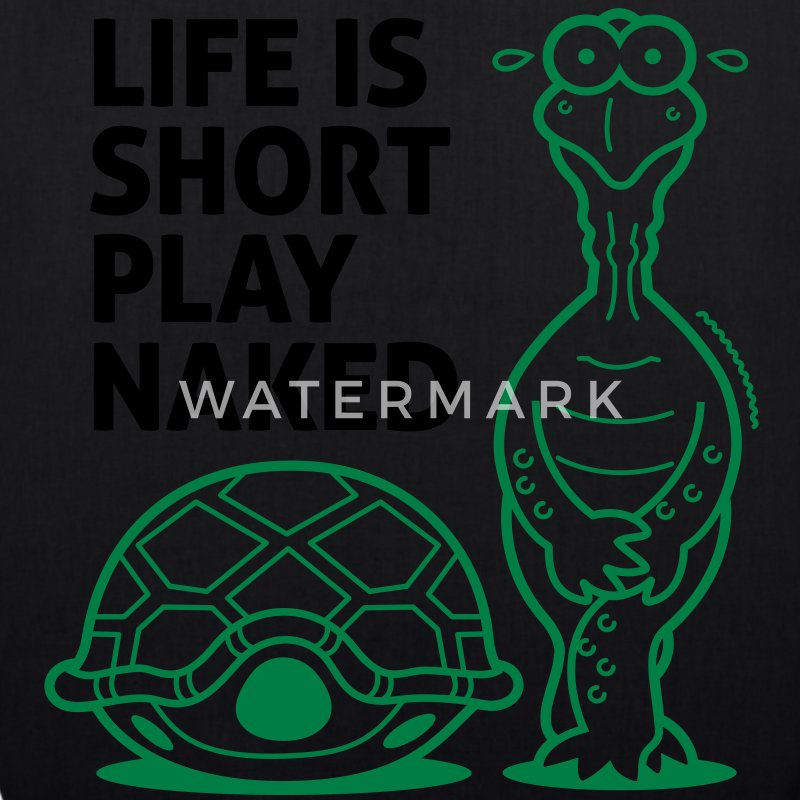 Life is short. Play Naked! Bags & Backpacks - EarthPositive Tote Bag