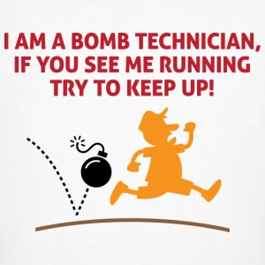 When a bomb squads running, follow him! T-Shirts - Men's Organic T-shirt