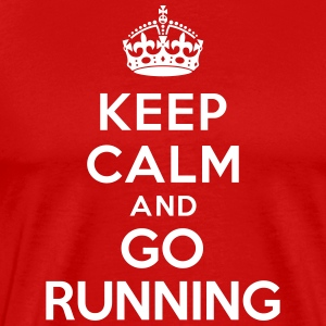 Keep calm and go running Tee shirts - T-shirt Premium Homme