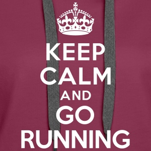 Keep calm and go running Sweat-shirts - Sweat-shirt à capuche Premium pour femmes