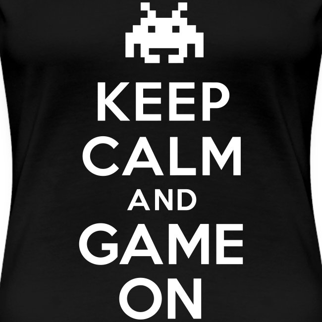 Womens Keep Calm Game T-Shirt