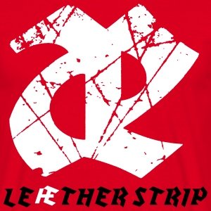 Leaether Strip - Logo 1 : T-Shirt - red - Männer T-Shirt