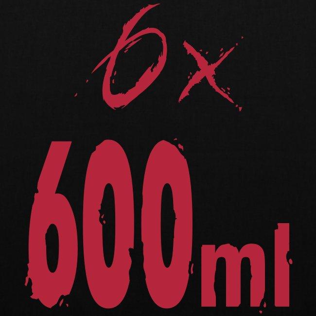 6x 600ml - print on Front