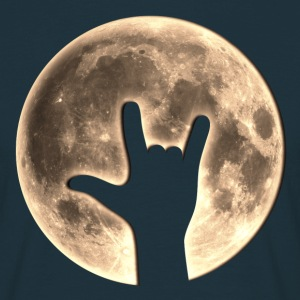 Rock Moon, Hand, Party, Music, Earth Day, Yeah T-shirts - T-shirt herr