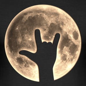 Rock Moon, Hand, Party, Music, Earth Day, Yeah Magliette - Maglietta aderente da uomo