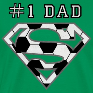 Superman Super Dad Soccer - Premium T-skjorte for menn