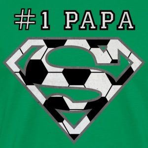 Superman Super Papa Football - T-shirt Premium Homme