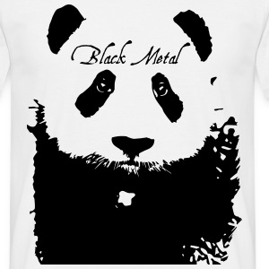 Black Metal Panda T-shirts - Mannen T-shirt