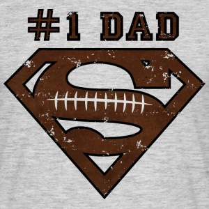 Superman Super Dad Football Männer T-Shirt - T-shirt Homme
