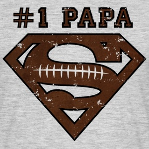 Superman Super Papa Football Männer T-Shirt - T-shirt Homme