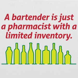 Bartenders are pharmacists with small stock Bags & Backpacks - Tote Bag