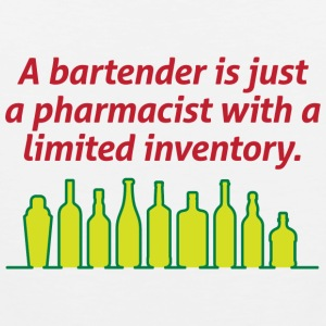 Bartenders are pharmacists with small stock Tank Tops - Men's Premium Tank Top