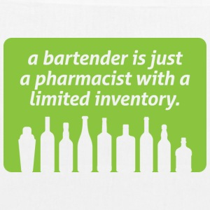 Bartenders are pharmacists with small stock Bags & Backpacks - EarthPositive Tote Bag