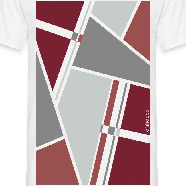 Blocks Marsala - Man T-shirt