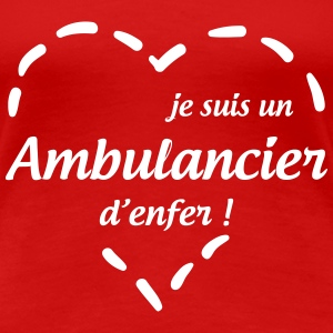 Ambulanceredder / Ambulanceassistent / Ambulancer / læge T-shirts - Dame premium T-shirt