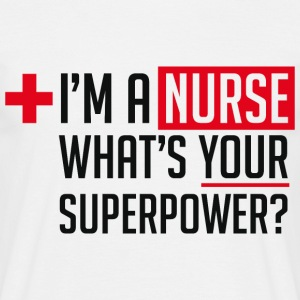 Superpowered Nurse - Men's T-Shirt
