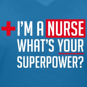 Superpowered Nurse - Women's V-Neck T-Shirt