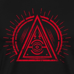Illuminati - All Seeing Eye - Satan / Black Symbol T-Shirts - Men's Premium T-Shirt