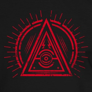 Illuminati - All Seeing Eye - Satan / Black Symbol T-shirts - Kontrast-T-shirt herr