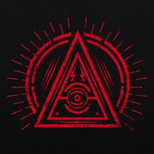 Illuminati - All Seeing Eye - Satan / Black Symbol Tasker & rygsække - Mulepose